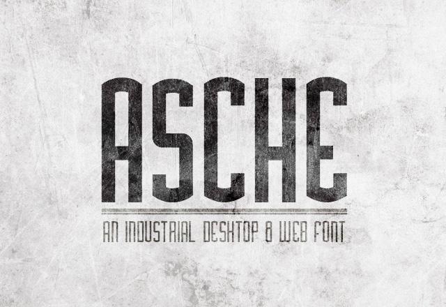 Asche Desktop & Web Font