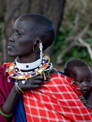Maasai Woman and Baby