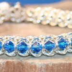Spine Of The Centiped Chain Maille Bracelet In Sterling Silver