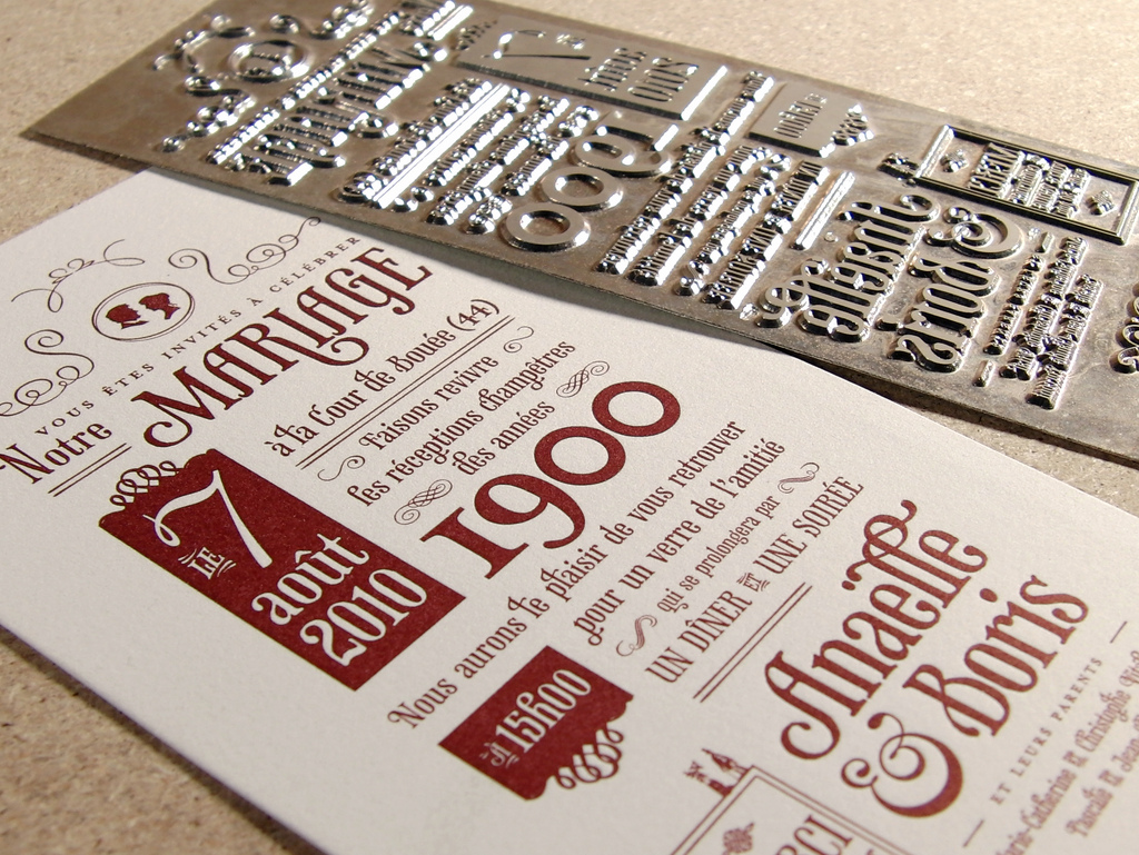 Wedding Invites Letterpress: Letterpress Printing Wedding Invites