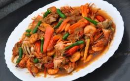 Hot Chili Crab With Shrimp