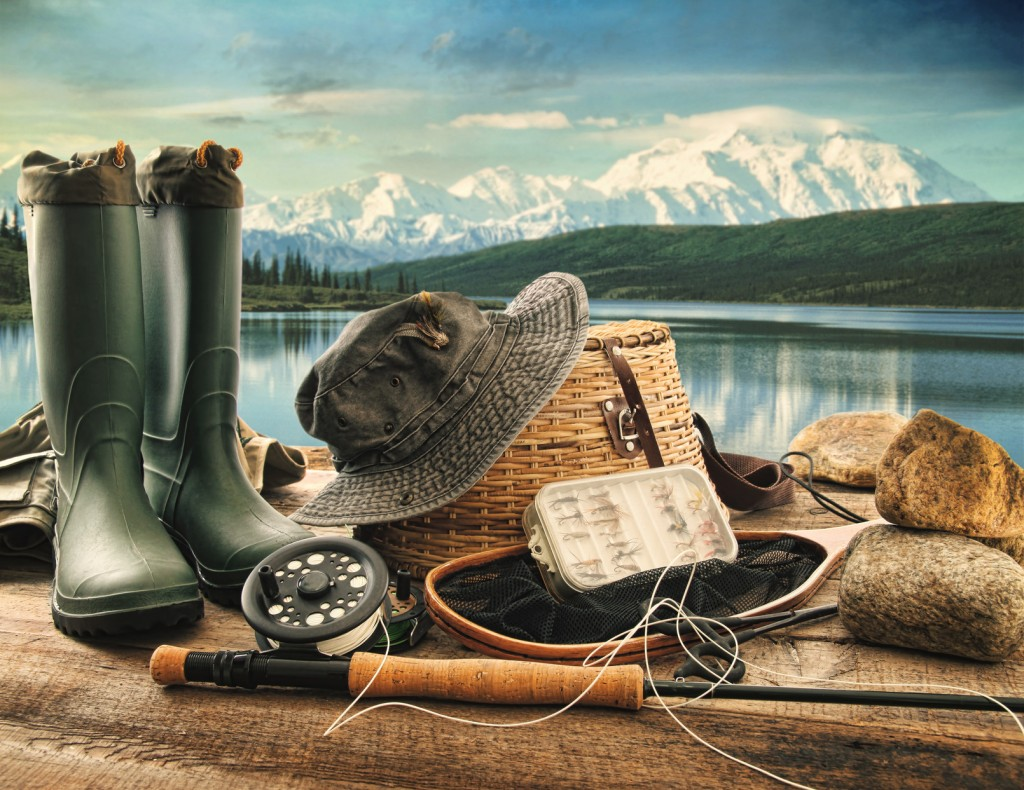 Fishing phrase for Fly fishing supplies