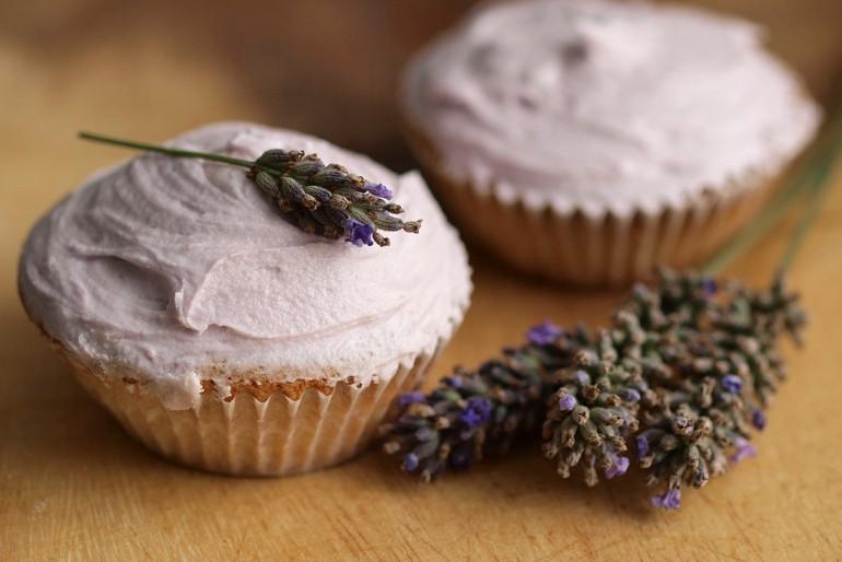 Lavender infused cupcakes