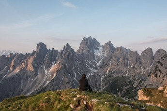Self portrait in Dolomites