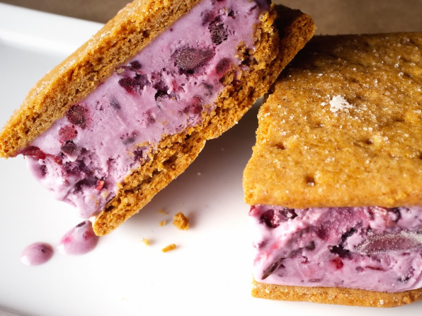 Blackberry Ice Cream Sandwiches