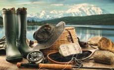Fly Fishing Equipment On Deck