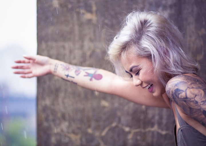 Attractive hand tattoos
