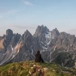 Self portrait in Dolomites